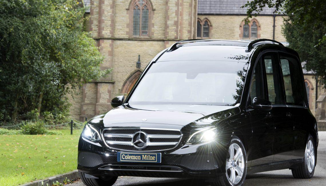 Mercedes e class classic hearse for sale coleman milne for Used mercedes benz hearse for sale
