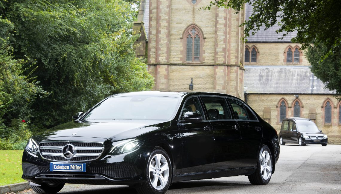 Mercedes e class 212 limousine for sale coleman milne for Used mercedes benz hearse for sale